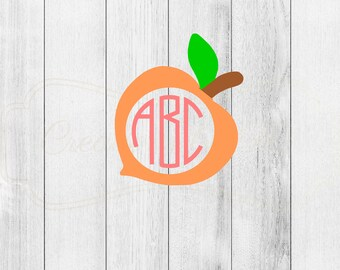 Monogrammed Peach Decal