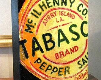 "Kitchen Decor ""Tabasco Sauce"" Art 8x10x1.5"" and 11x14x1.5"" Gallery Wrap Canvas Print"