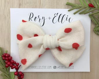 "Large Pinwheel Bow | ""Holiday Dot"""