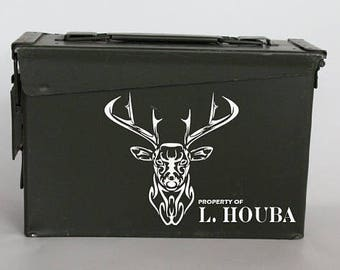 Personalized Ammo Box - man gift - hunting gift for men