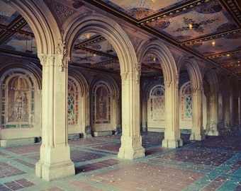 Central Park Photography, New York Photography, NYC Print, Architecture Art Print, Bethesda Terrace Arcade, NYC Print, Large Art