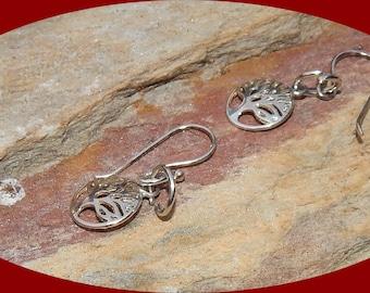 Sterling Silver Zen Tree of Life Earrings