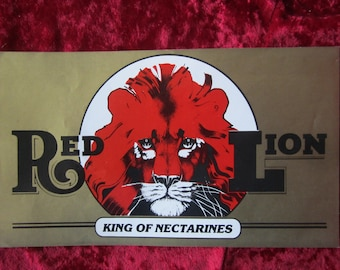 Red Lion Nectarines Vintage Fruit Crate Label