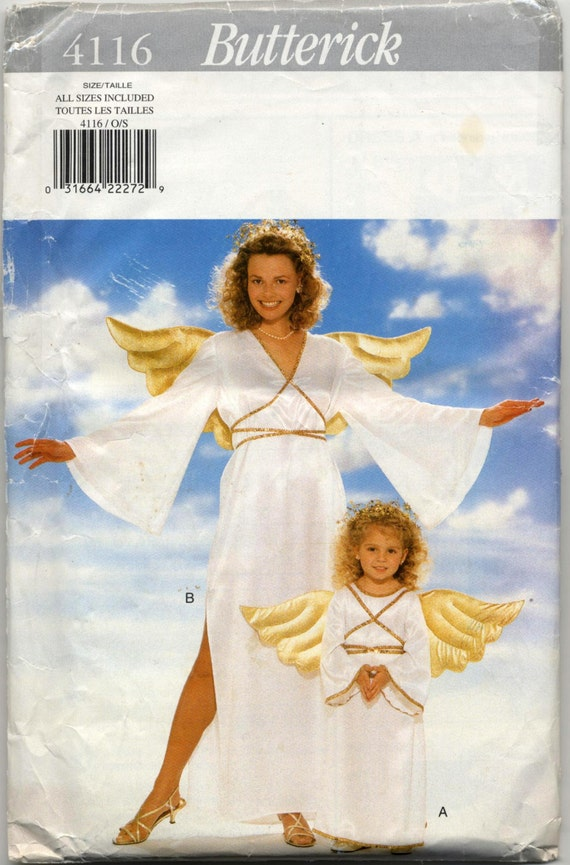 Children\' & Misses\' Angel Costume Sewing Pattern - Butterick 4116 ...