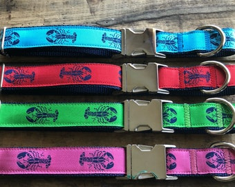 Maine Lobster Dog Collar, Maine Lobster, Nautical Dog Collar, Lobster Collar, Sew Fetch Dog Collar, Lobster Print, Salty Dogs
