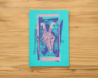 """pstcard """"Capricorn"""", Art print, silkscreen"""