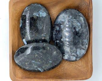 Larvikite Palm Stones Extra Large - Root Chakra - Reiki - Energy Healing - First Chakra - Base Chakra