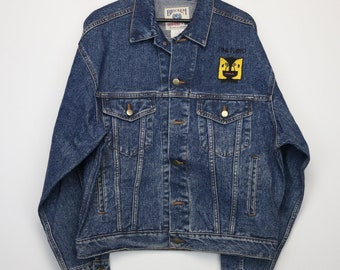 Vintage Satin Style 95 1/2 WMET Chicago The Who 1982 Tour Jacket Levis Rock and Roll CeLO5