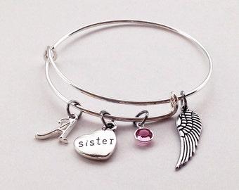 Memorial Bracelet Sister, In Memory of Sister, Sister Loss Death, Loss of Sister, Memorial Jewelry, Memorial Gift Memorial Bracelet Sympathy