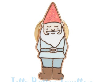 Gnome Enamel Pin