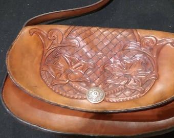 Hand tooled purse