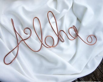 Aloha Sign In Wire For Wall
