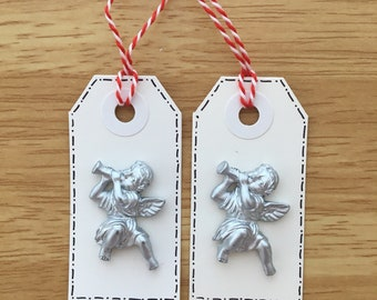 Set of 2 Angel gift tags