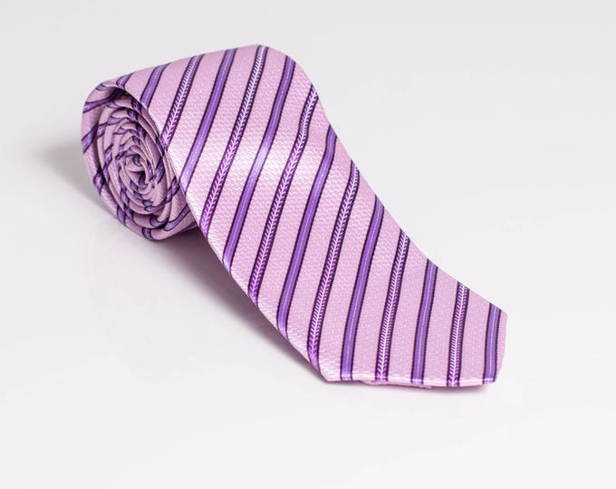 """The """"Booming Pink"""" Stripped Tie"""