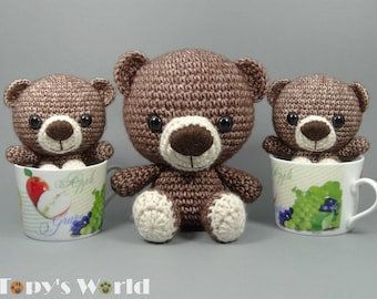 MARCELL Teddy - Crochet pattern (English and Hungarian)