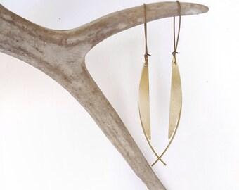 Minimalist Earrings Long Earrings Modern Minimalist Cool Earrings Brass Earrings Modern Earrings Statement Earrings Geometric Earrings