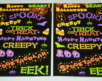 Happy Halloween Stickers from Mrs. Grossmans
