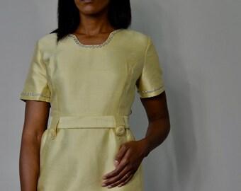 Vintage Gold Party Dress
