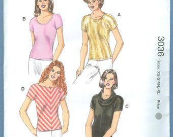 1970s Misses' Dress by Designer Kerstin Martensson Uncut Factory Fold Size 6,8,10,12 - Kwik Sew Sewing Pattern 3036