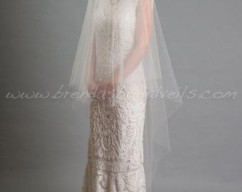 Drop Veil, Wedding Veil, Bridal Veil Single Layer Tulle - Eden Veil