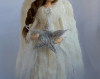 Angel Tree Topper Needle Felted Large