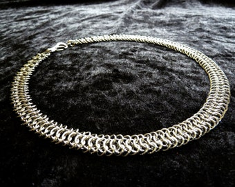European 6:1 Stainless Steel (4mm & 6mm) Chainmail Jewellery Necklace