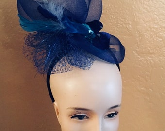 Blue Fascinator Headband Derby, Preakness Stakes, Belmont Stakes, Breeders' Cup