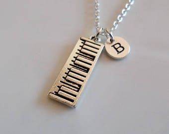 Electronic Keyboard necklace, Piano necklace, Musician Gift, Custom necklace, Custom necklace, Keyboard Pendant, Personalized gift