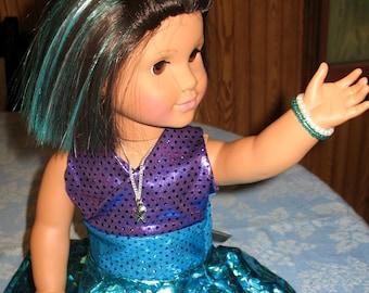 """SALE!! Mermaid Dress Costume (5pcs) for 18"""" Dolls"""