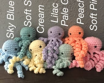 Crochet Octopus Toy - Larger Size
