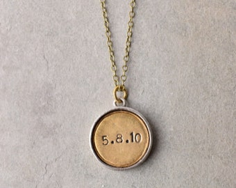 Engraved Necklace personalized pendant / wedding jewelry engagement