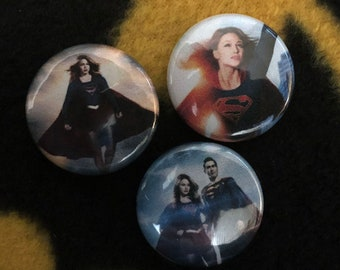Supergirl Pinback Buttons 1'