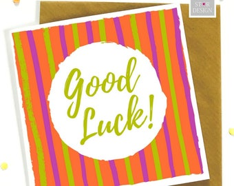 Good Luck Bold Greeting Card, Good Luck, Best Wishes, New Job