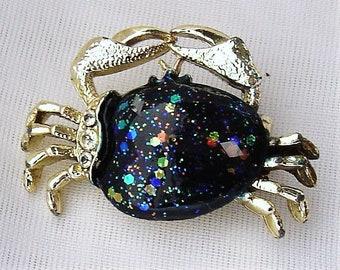 Crab Zodiac Celestial Pin Brooch