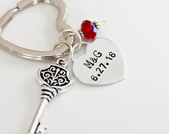 Valentine For Wife ~ Valentines Day Gift For Wife ~ Gift For Girlfriend ~ Key to My Heart Keychain ~ Anniversary Gift For Wife ~
