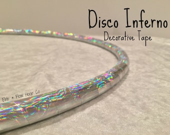 """POLYPRO Disco Inferno Deco Taped Hoop - INCLUDES Clear Protective Tape & Inner Gaffer - 3/4"""", 11/16"""" or 5/8"""""""