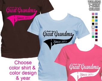 World's Finest Great Grandma - Personalized with Year - Classic Fit Ladies' T-Shirt