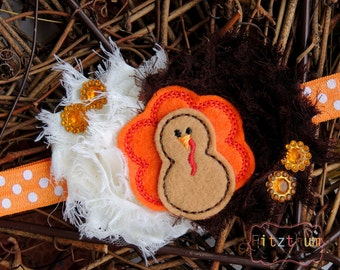 Thanksgiving turkey headband - Fall baby headband - My first Thanksgiving headband - First Thanksgiving baby - Fall outfits accessories