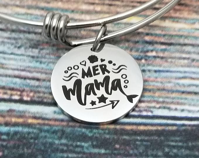 Mermama Customizable Expandable Bangle Charm Bracelet, choose your charms, create your style, design your bracelet,