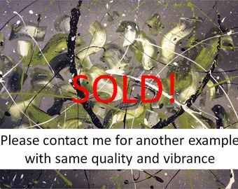 """This Painting """"Organic Life""""  is SOLD however I can paint another superb example (not exact as it will be painted by hand and not printed)"""