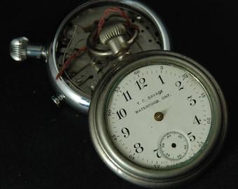 Destash Steampunk Pocket Watch Body Parts Bezels Frames Body Assemblage Industrial Art Grab Bag X 62