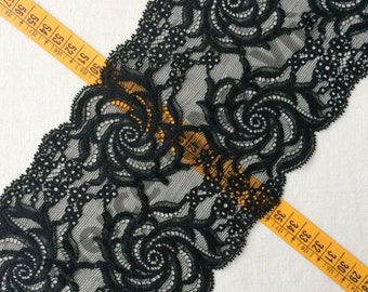 1,09 yards (1 meter) 6.3 inches (16cm)  elastic lace trim stretch beautify