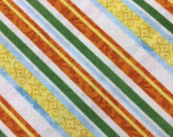 Citrus Grove diagonal stripe - 1/2 yard