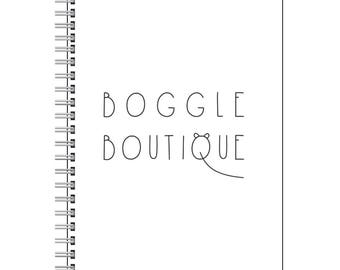 Boggle Boutique Notebook