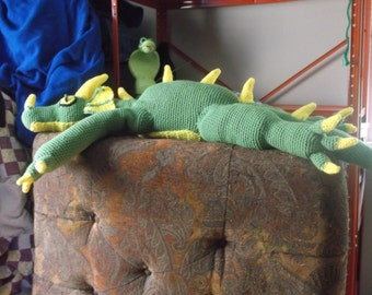 Gill the giant earth dragon, crochet dragon pattern, PATTERN ONLY