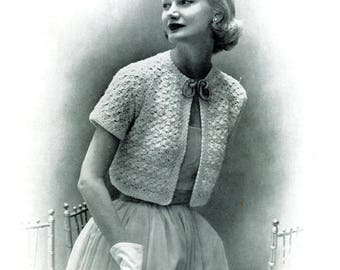 Ladies Bolero, Crochet Pattern. Instant Download.