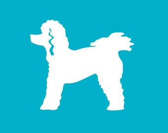 Poodle Car Decal | Dog Breed Sticker | Dog Silhouette | Laptops | Tumblers | Boats | Trucks | Poodle Mom & Dad | I Love My Poodle