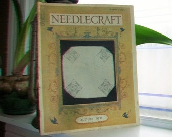 1921 Needlecraft Magazine August Issue with Great Cream Of Wheat Ad Vintage 1920s Sewing