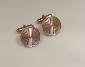 Mid-century modern round cufflinks