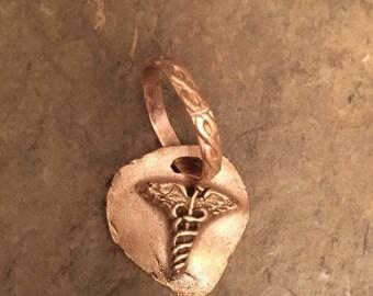 Medical Symbol in handcrafted bronze